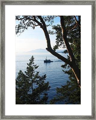 Tugboat Passes Framed Print