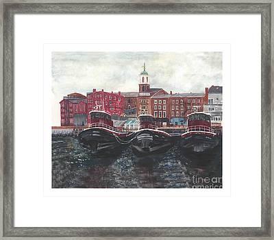 Tugboats Of Portsmouth Framed Print