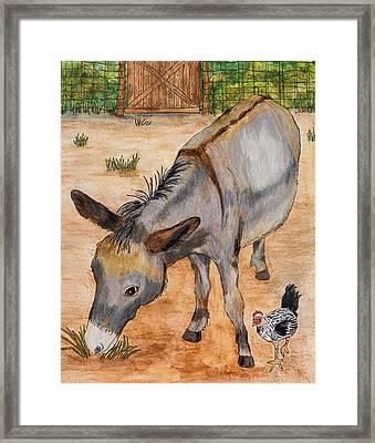 Tugen And Shrek Framed Print by Sandee Johnson