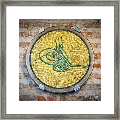 Tughra Symbol 02 Framed Print by Antony McAulay