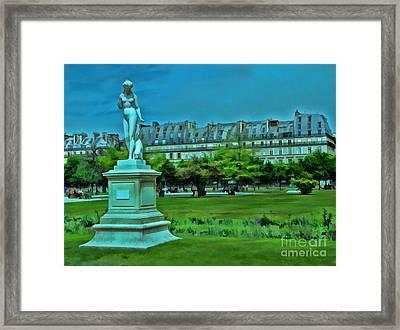 Tuileries Gardens Framed Print by Allen Beatty