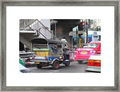 Tuk Tuk - City Life - Bangkok Thailand - 01131 Framed Print by DC Photographer