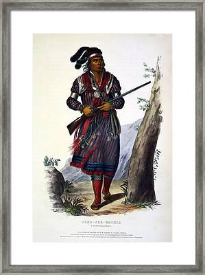 Tuko-see-mathla, Seminole Chief Framed Print by Everett