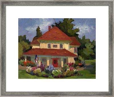 Tukwilla Farm House Framed Print by Diane McClary