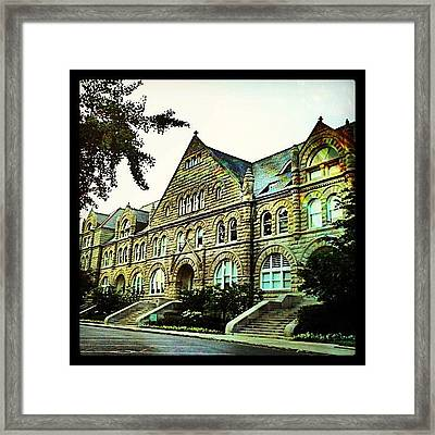 Tulane University At Sunset Framed Print