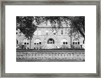 Tulane University Gibson Hall Framed Print by University Icons