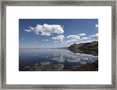 Tule Lake In Northern California Framed Print