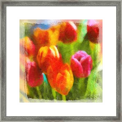 Tulip Art Framed Print by Lutz Baar