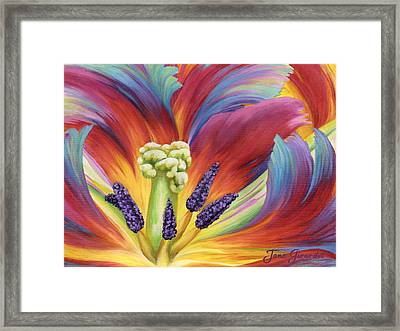 Framed Print featuring the painting Tulip Color Study by Jane Girardot