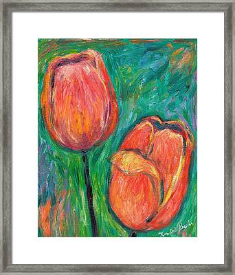 Tulip Dance Framed Print