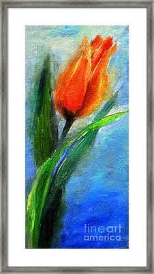 Tulip - Flower For You Framed Print