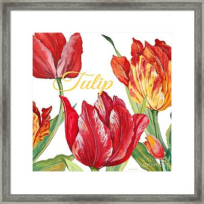 Tulip-jp2585 Framed Print by Jean Plout