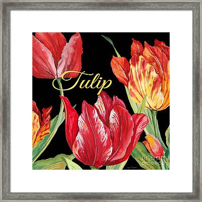 Tulip-jp2602 Framed Print by Jean Plout