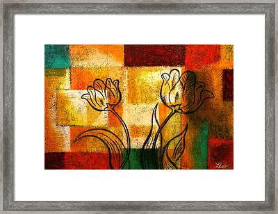 Tulip Framed Print by Leon Zernitsky