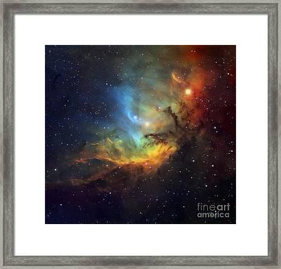 Tulip Nebula, Optical Image Framed Print by Robert Gendler