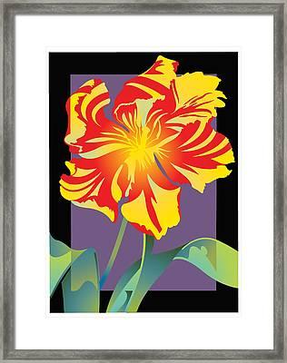 Tulip Noir Framed Print