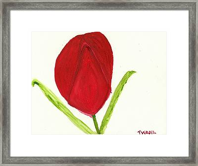 Tulip Of The Heart Framed Print by Tracey Williams