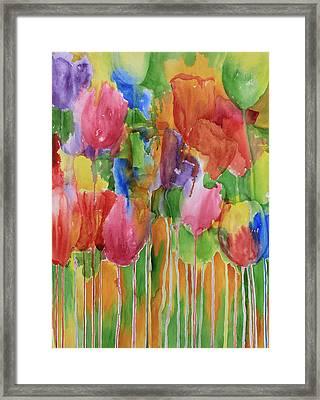 Tulip Palooza Framed Print by Rhonda Leonard