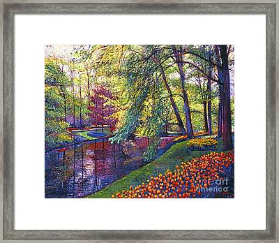 Tulip Park Framed Print by David Lloyd Glover