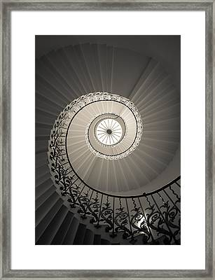Tulip Stairs From Below Framed Print