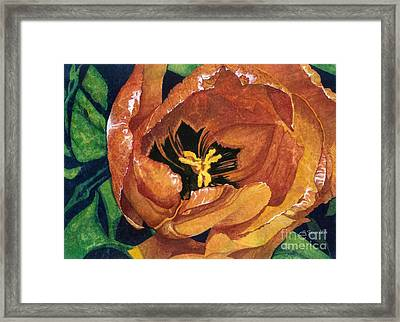 Framed Print featuring the painting Tulip Swirl by Barbara Jewell