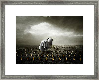 Tulip Thief Framed Print by Johan Lilja