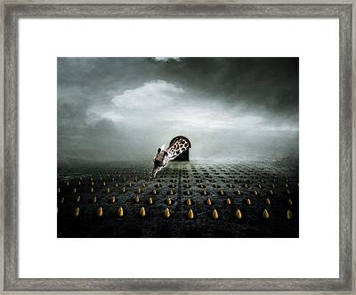 Tulip Thief  Two Framed Print