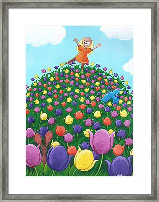 Tulip Time Painting Framed Print