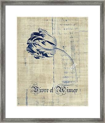 Tulip - Vivre Et Aimer S04t03t Framed Print by Variance Collections