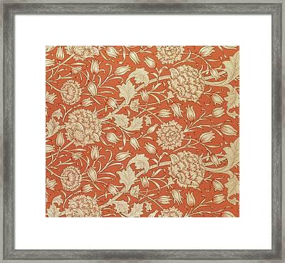 Tulip Wallpaper Design Framed Print by William Morris