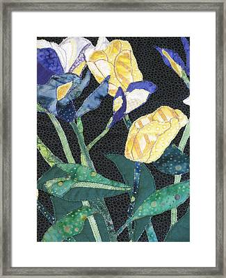 Tulips And Irises Detail Framed Print