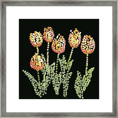 Tulips Bedazzled Framed Print by R  Allen Swezey