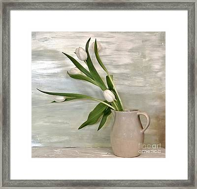 Tulips Dancing Framed Print by Marsha Heiken