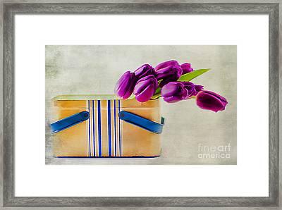 Tulips For Mom Framed Print by Darren Fisher