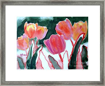 Tulips For The Love Of Patches Framed Print by Kathy Braud