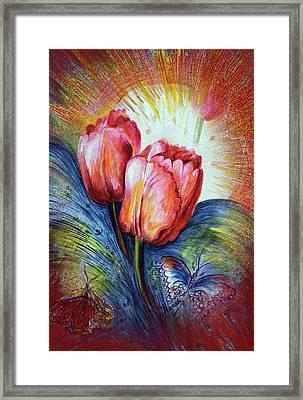 Tulips Framed Print by Harsh Malik