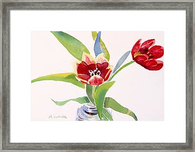 Tulips In A Can Framed Print