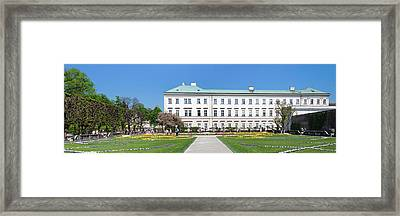 Tulips In Mirabell Garden, Mirabell Framed Print by Panoramic Images