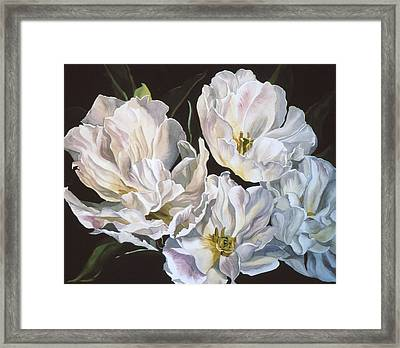 Tulips In Spring Framed Print by Alfred Ng
