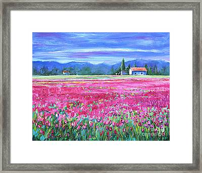 Tulips In Spring Framed Print by Jennifer Beaudet