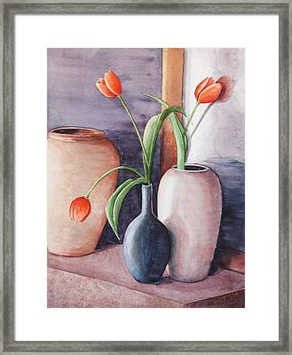 Tulips Framed Print by Laura Sapko
