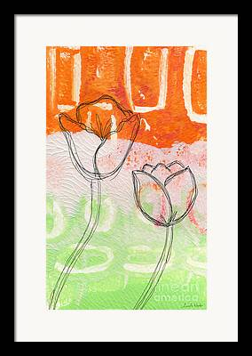 Abstract Tulips Framed Prints