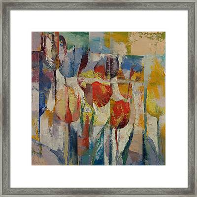 Tulips Framed Print by Michael Creese