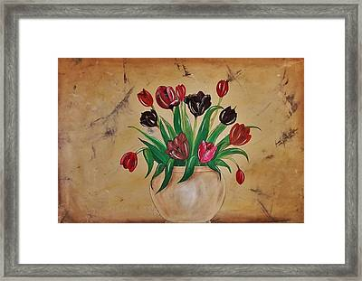 Tulips Of Tuscany 57x41 Framed Print by Cindy Micklos