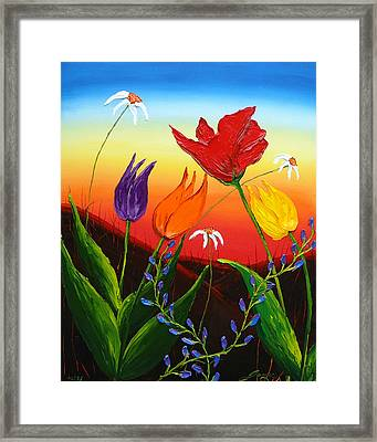 Tulips Of Woodburn Oregon Framed Print by Portland Art Creations