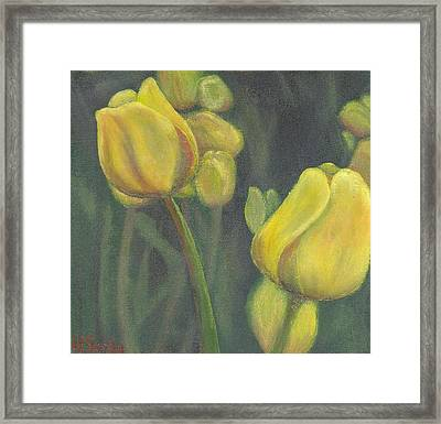 'tulips Stand' Framed Print