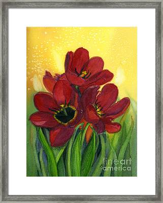 Tulips Framed Print by Teresa Boston