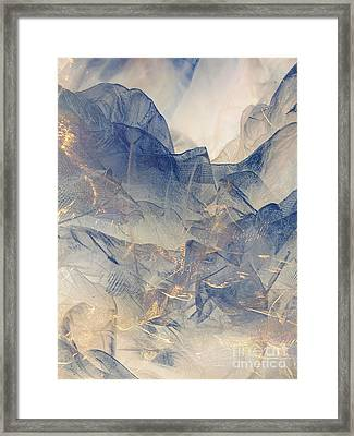 Tulle Mountains Framed Print