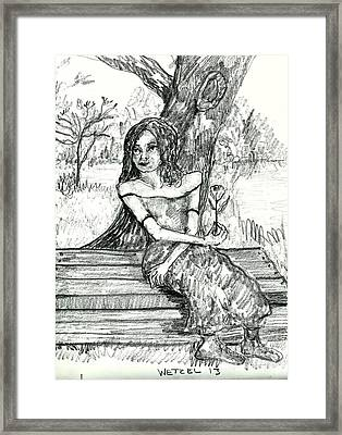 Tulsa By The Old Lynching Tree Framed Print