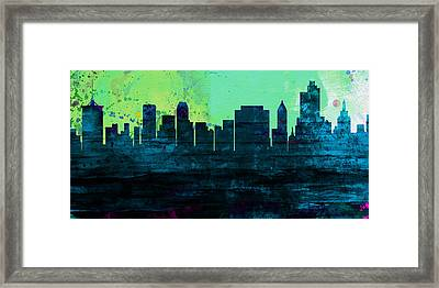 Tulsa City Skyline Framed Print by Naxart Studio